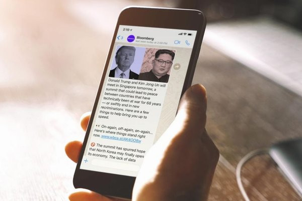 Bloomberg closes its WhatsApp channel and goes to Telegram