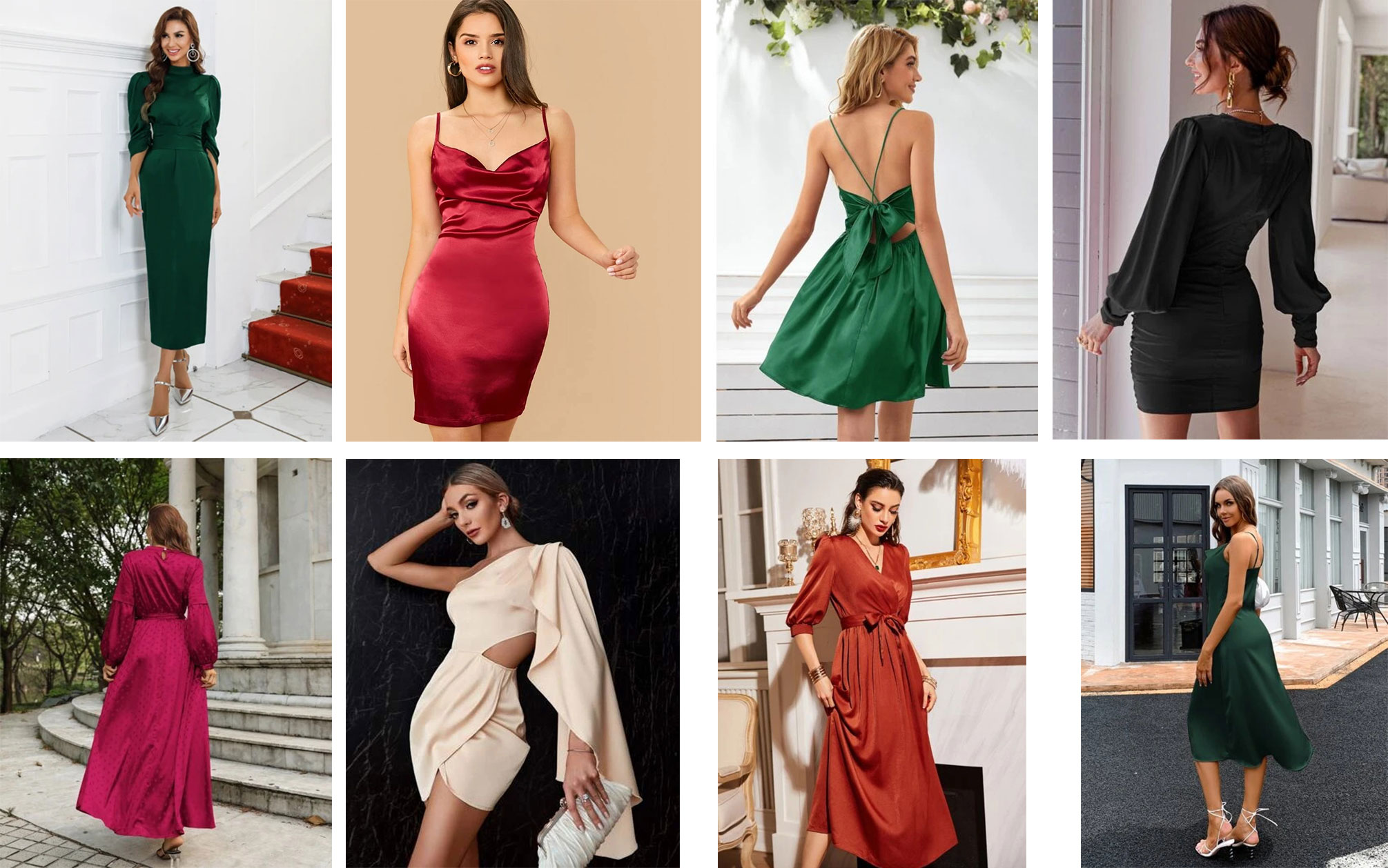 Satin Dresses From Shein's Are Marvelously Lovely